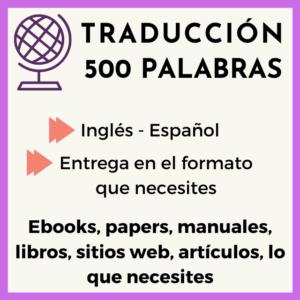traduccion 500 palabras ingles-español