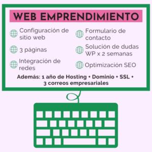 diseño pagina web emprendimiento