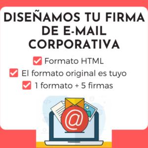 diseño de firma de email corporativa