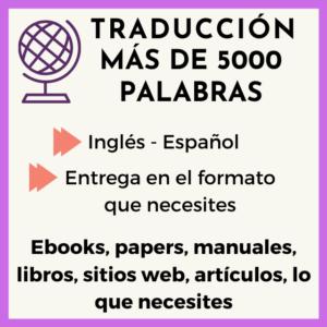 traduccion 5000 palabras ingles-español