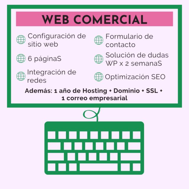Diseño pagina web comercial