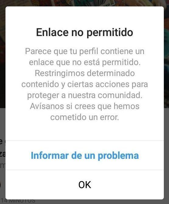 """Error """"Enlace no permitido"""" en Instagram y Facebook: Solución definitiva"""